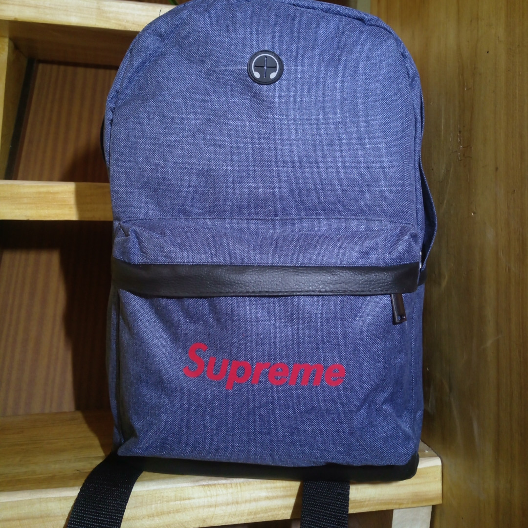 Рюкзак Supreme, дно-кожзам спортивный городской унисекс