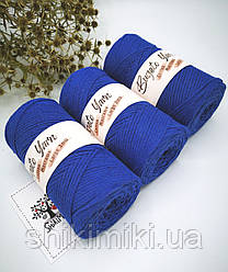 Эко шнур Cotton Macrame Large 3 mm,цвет Электрик