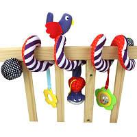 Мягкая игрушка-подвеска спираль на коляску, кроватку, автокресло