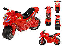 Каталка Спортивный мотоцикл двухколесный, цвет красный. ORION 501-K
