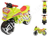 Каталка Спортивный мотоцикл. Kideway KW-11-006. Цвет салатовый