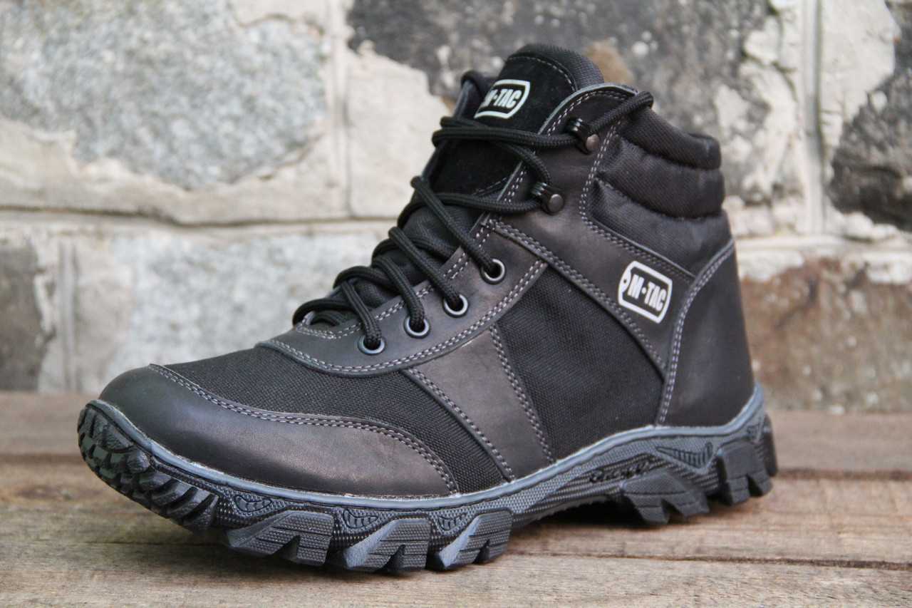 Тактические ботинки из натуральной кожи MAX MT BL