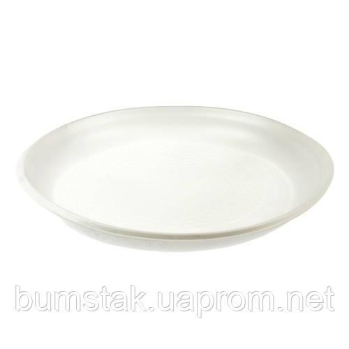 Одноразовая пластиковая тарелка 165 мм / 100 шт
