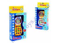 Телефон мобильный, обучающий, умный, свет, звук, в кор. 29х13х5 /60-2/(7028)