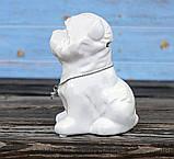 Копилка собачка Йоркширский терьер белая керамика h13см 4506700-2йорк-терьер, фото 2