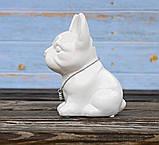 Копилка собачка Грифон белая керамика h13см 4506700-3 грифон, фото 2