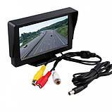 Цветной автомобильный монитор дисплей UFR 4,3'' с 2-мя видеовыходами для камеры заднего вида, фото 2