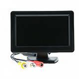 Цветной автомобильный монитор дисплей UFR 4,3'' с 2-мя видеовыходами для камеры заднего вида, фото 6