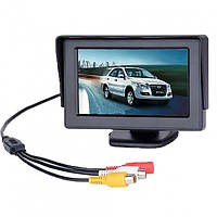 Цветной автомобильный монитор UFR 4,3'' с 2-мя видеовыходами для камеры заднего вида, фото 1