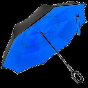 Зонт обратного сложения Up-Brella Синий (16000), фото 2