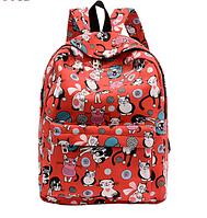 Новинка !!! Рюкзак школьный городской Кошки Красный Кошечки Коты Портфель Сумка, фото 1