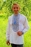 """Мужская вышиванка """"Николай"""" (синий), 37  купить"""