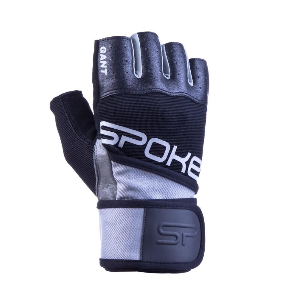 Перчатки для фитнеса мужские Spokey GANT II M Черно-серые (s0180)
