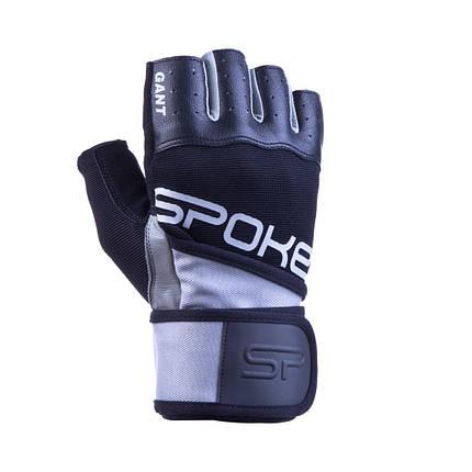Перчатки для фитнеса мужские Spokey GANT II M Черно-серые (s0180), фото 2