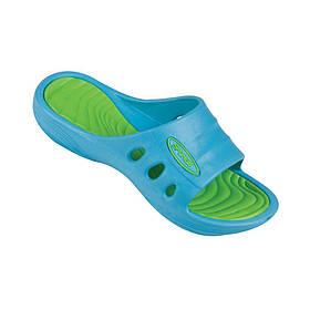 Шлепанцы пляжные детские Spokey Flipi 32 Голубые с зеленым (s0093)