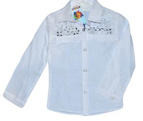 Рубашки для девочек от 5-8 лет. Детская одежда оптом.