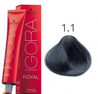 Краска для волос Schwarzkopf Professional Igora Royal 60 мл 1-1 Черный сандрэ