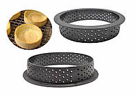 Кольцо для тарта, набор перфорированных колец из термопластика для тарталеток, 6шт