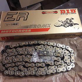 Мото цепь  520 DID 520MX  G&B черно - золотая 118 звеньев для мотокросса  серия DID MX