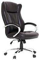 Кресло Сенатор Хром М-2 Кожзам Черный, фото 1