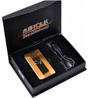 """Электроимпульсовая USB зажигалка """"Jaguar"""" №4342 gold"""