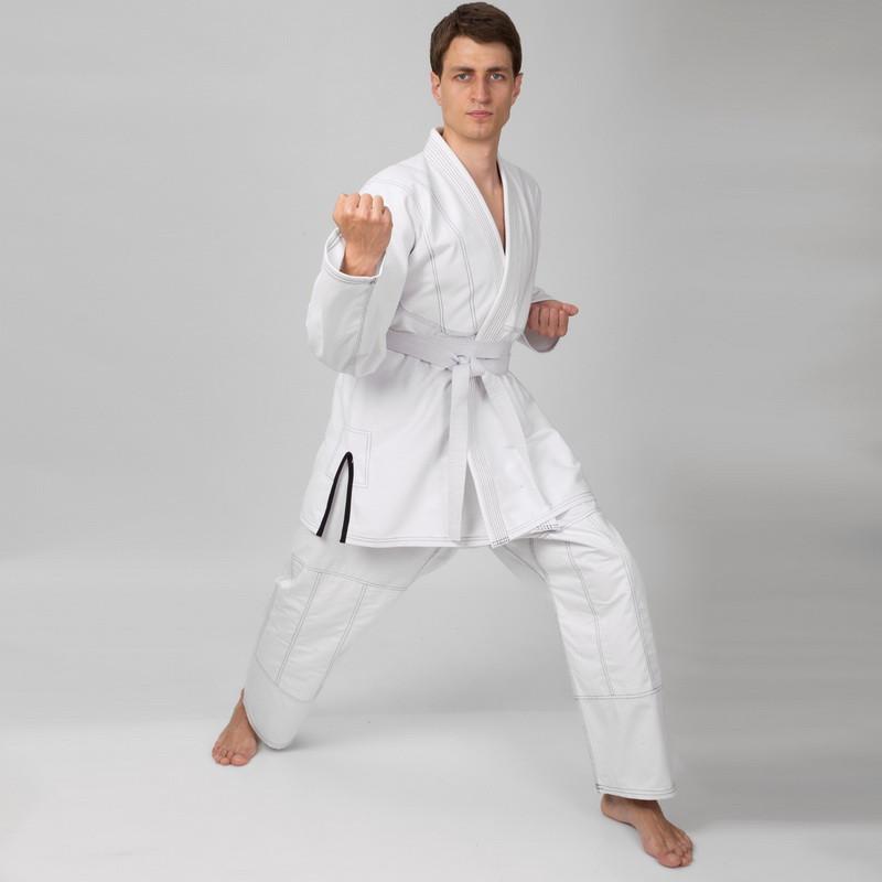 Кимоно для джиу джитсу VELO белое 350г/м2 (СКИДКА НА р.170 и р.180) (OF)