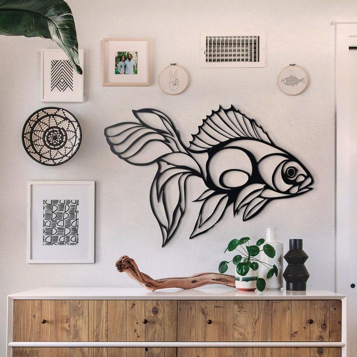 "Декоративное панно / картина   ""Золотая рыбка"""