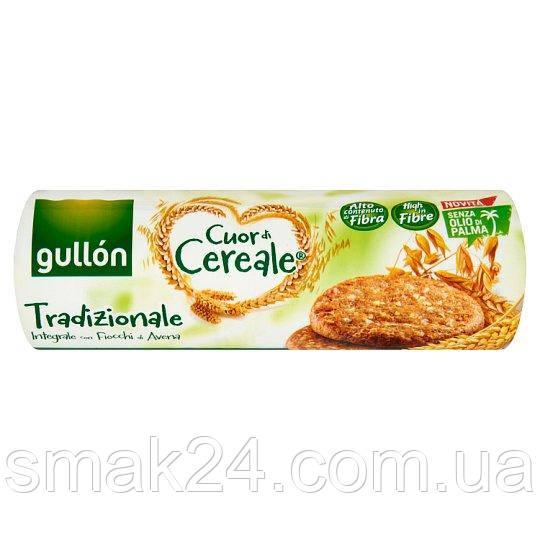 Печенье злаковое  без пальмового масла Gullon Cuor di Cereale Tradizionale 280г  Испания