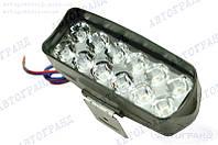 Фара светодиодная дальнего света (12 led, дополнительная, прямоугольная)