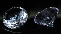 Кристалл хрустальный сиреневый (8cm)(6068)