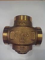 """Клапан термостатический трехходовой HERZ 1-1/4"""" ( 61 °C)  Тепломикс"""