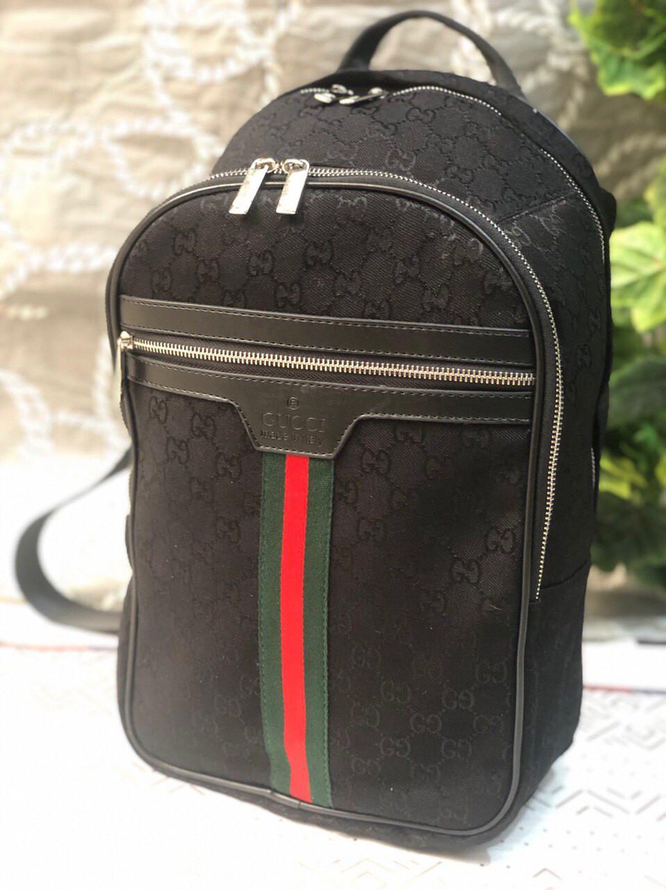 Рюкзак женский ранец Gucci (реплика люкс) черный