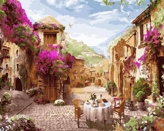 "Картина по номерам. Brushme ""Цветочное кафе"" GX22528, фото 2"