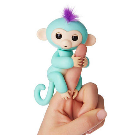 Умная игрушка обезьянка Fingerlings Happy Monkey Green (004480), фото 2