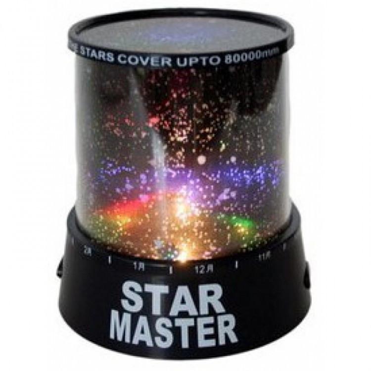 Ночник проектор звездного неба Gizmos Star Master Черный (000343)