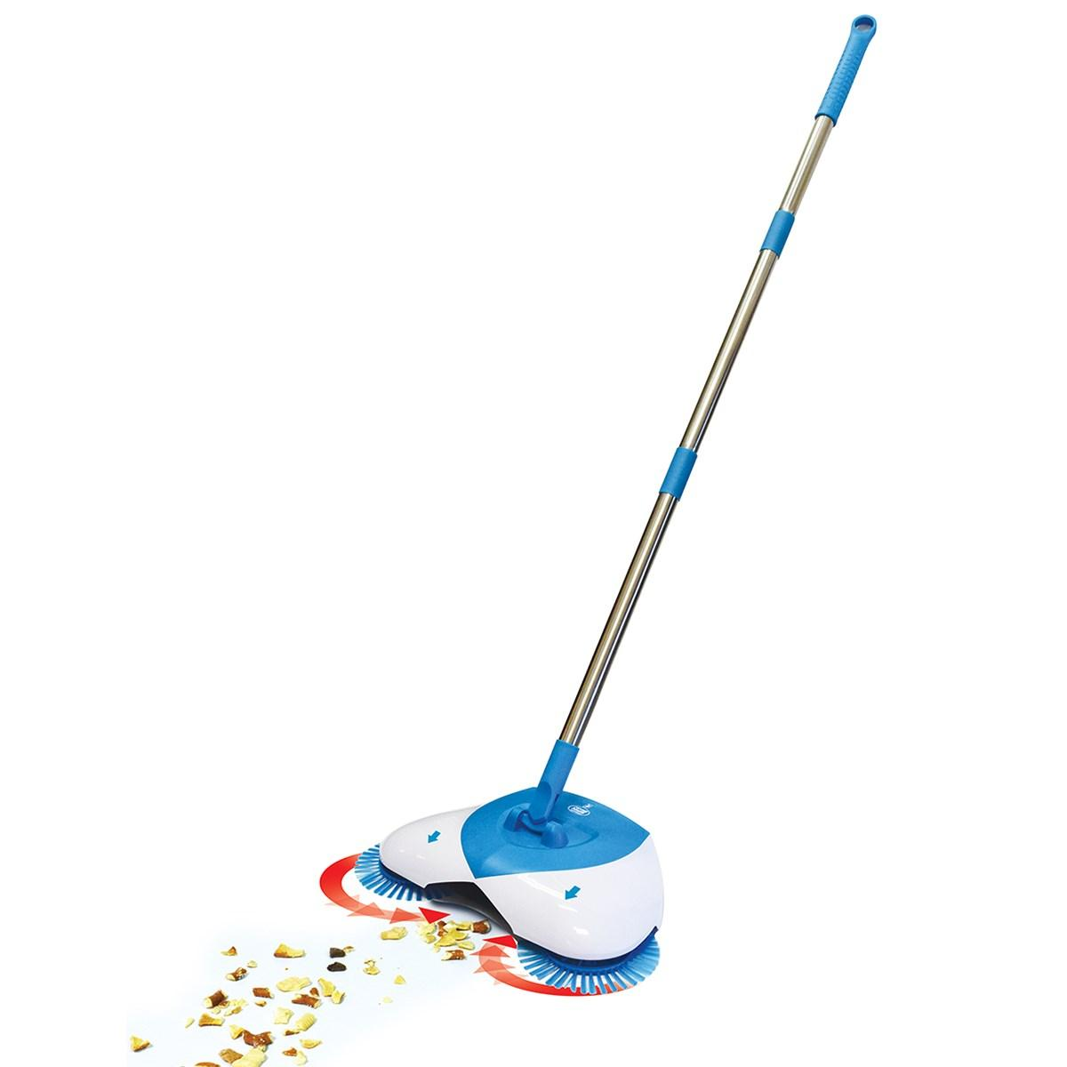 Веник для быстрой уборки Spin Broom Hurricane Голубой (4354)