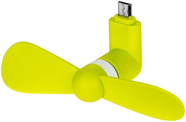 Вентилятор Micro USB Plymex mini Желтый (5806), фото 2