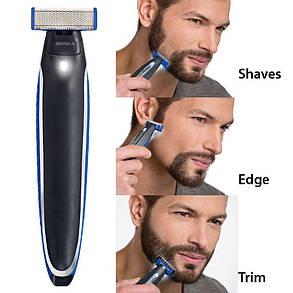 Триммер бритва для мужчин Micro Touch Solo Черный с синим (005918), фото 2