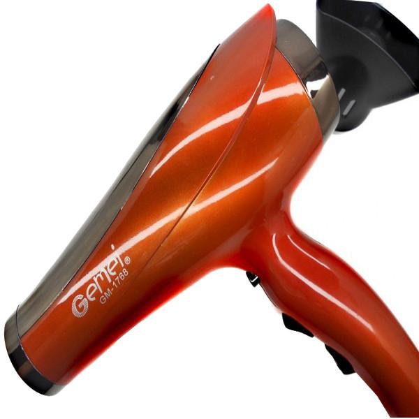 Фен для волос Gemei GM-1768 1200 Вт Оранжевый (6036)