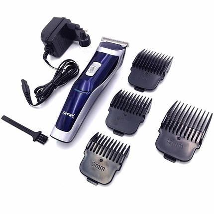 Аккумуляторная машинка для стрижки волос GEMEI GM 6005 Синий с серым (004855), фото 2