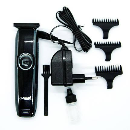 Аккумуляторная машинка для стрижки волос Gemei GM-6050 Черный с серым (1em_004852), фото 2