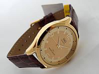 Часы мужские Q@Q  классические в золоте, водозащита, IPG напыление, C192J103Y