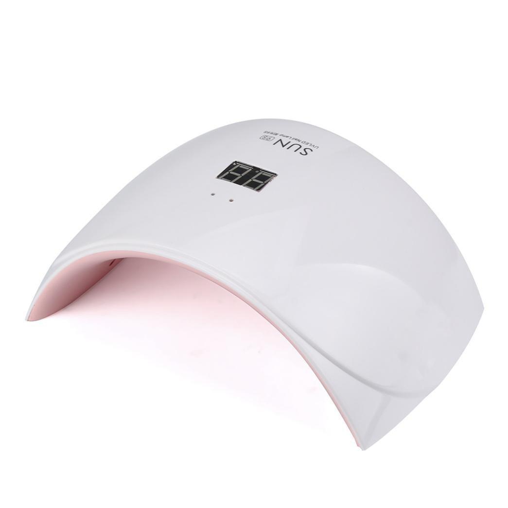 Ультрафиолетовая лампа для сушки ногтей SUN 9S Белый с розовым (1em_006333)