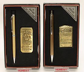 Подарочный набор: зажигалка + ручка PN7-1