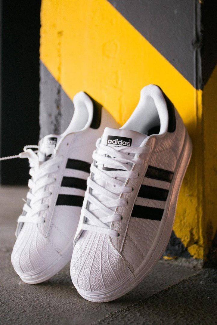 Стильные кроссовки Adidas Superstar White/Black