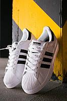 Стильные кроссовки Adidas Superstar White/Black, фото 1