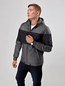 Мужская демисезонная куртка Riccardo Т4 46 Gray (2rc_030_46)