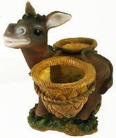 Фигурка декоративная Ослик с горшками, h 35 см, HA 9046-2
