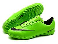 Детские сороконожки Nike Mercurial Victory IV Turf Lime/Black, фото 1