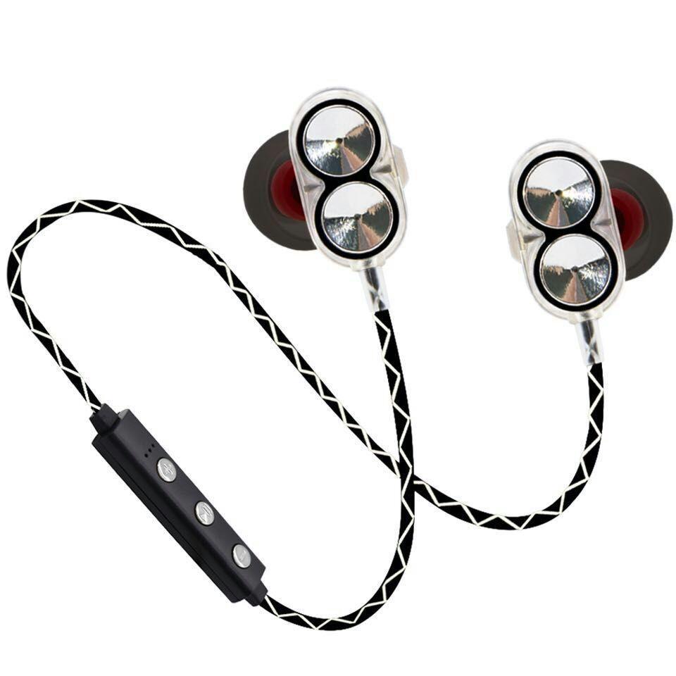 Bluetooth наушники Plymex H-13 Dual Driver Серые (3sw_009_1)